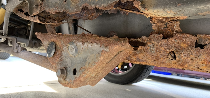Is It Safe To Drive a Car With a Rusted Frame