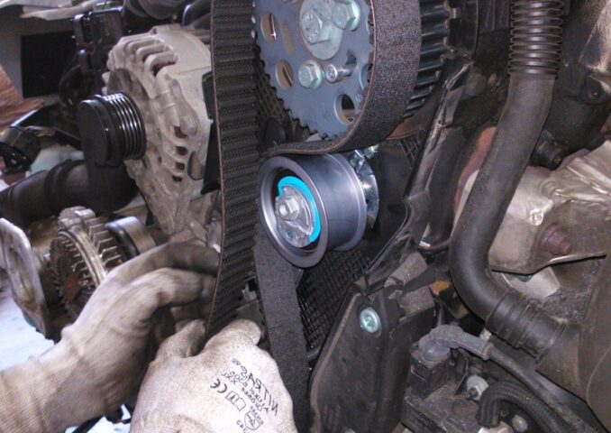 Seized water pump and burning rubber smell