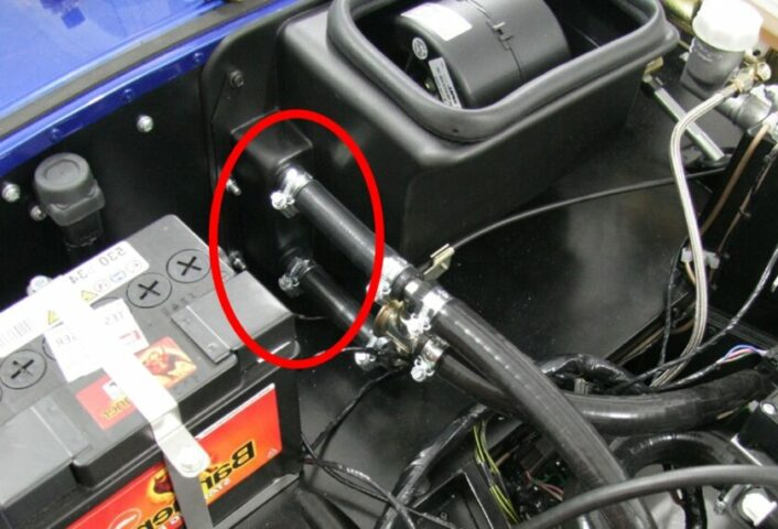 Check the heater core hoses