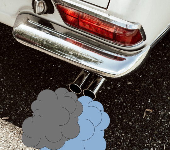 Why Is My Car Smoking From The Tailpipe - GRAY BLUE SMOKE